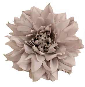 Light Platinum Grey Pale Lavender Dahlia Hair Flower and Brooch Pin