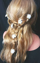 Load image into Gallery viewer, White Baby's Breath Hair Flower Pins - Set of 6