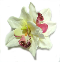 Load image into Gallery viewer, Ivory Cymbidium Hair Flower Clip