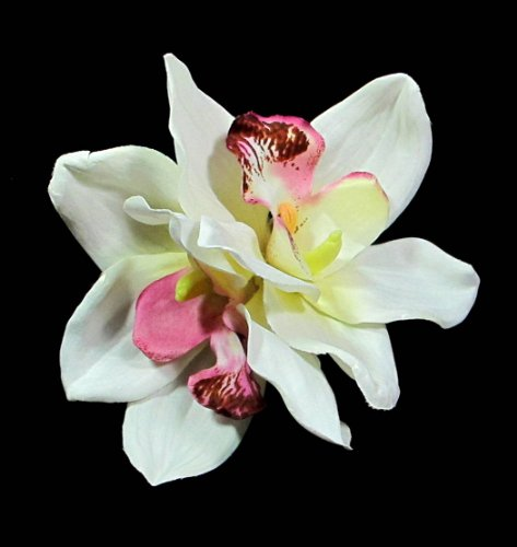 Ivory Cymbidium Hair Flower Clip