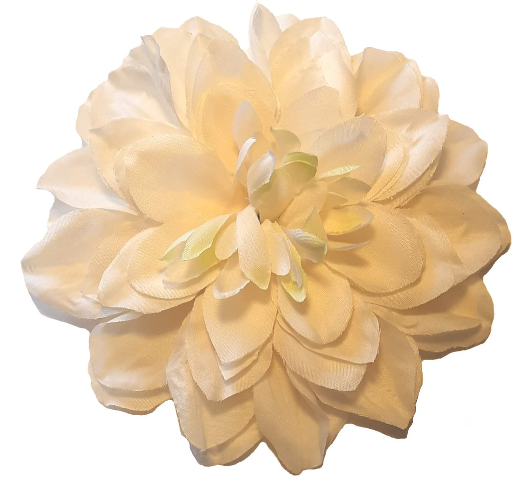 Large Ivory Cream Dahlia Flower Hair Clip