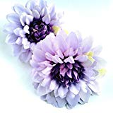 Load image into Gallery viewer, Pastel Purple Lavender Hair Flower Clips - Set of Two Hair Accessories