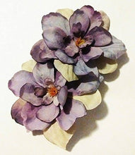 Load image into Gallery viewer, Lavender Light Purple Delphinium Flower Hair Clips PAIR
