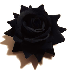 Navy Velvet Rose Hair Flower Clip