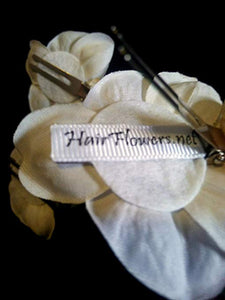 Small White Tropical Orchid Hair Flower Set of 3