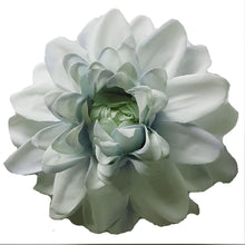 Load image into Gallery viewer, Pastel Pale Blue Dahlia Hair Flower Clip and Pin