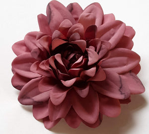 Mauve Pink Dahlia Hair Flower Clip and Pin