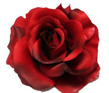 Load image into Gallery viewer, Large Perfect Red Rose Flower Hair Clip