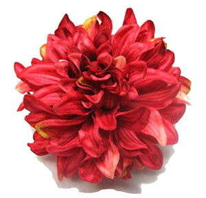 Bright Pink Dahlia Flower Hair Clip and Pin Back Brooch