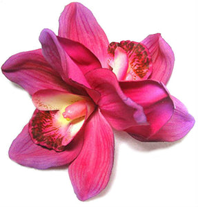 Large Pink Cymbidium Orchid Hair Flower Clip