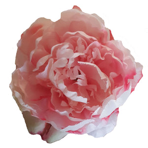 Large Pink Peony Hair Flower Clip and Pin Brooch