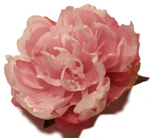 Load image into Gallery viewer, Large Pink Peony Hair Flower Clip and Pin Brooch