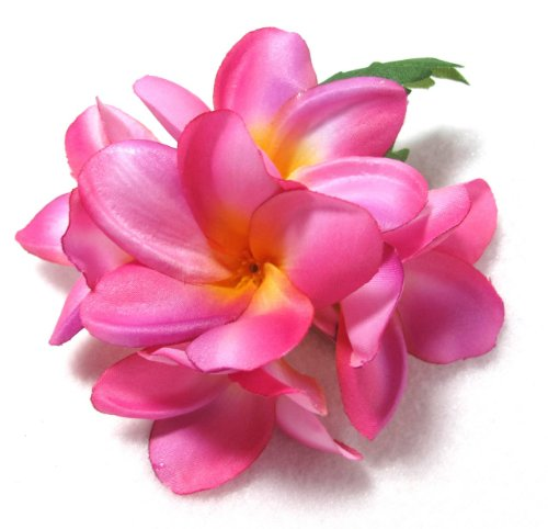 Pink Tropical Plumeria Hair Flower Clip