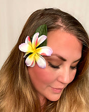 Load image into Gallery viewer, Tropical Pink and Purple Plumeria Hair Flower Clip