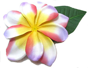 Tropical Pink and Purple Plumeria Hair Flower Clip