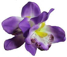 Load image into Gallery viewer, Purple Cymbidium Orchid Flower Hair Clip
