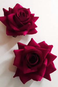 Bright Purple Rose Hair Flower Clip