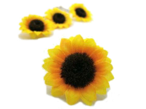 Sunflower Hair Pins - Set of 3