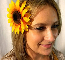 Load image into Gallery viewer, Yellow Orange Sunflower Hair Flower Clip