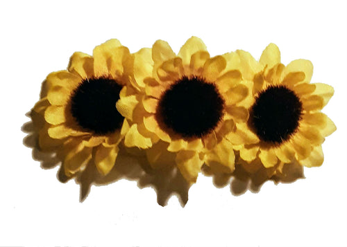 Triple Sunflower Hair Clip