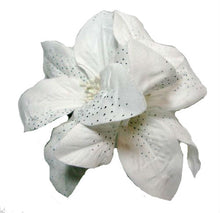 Load image into Gallery viewer, White Lily Flower Hair Clip