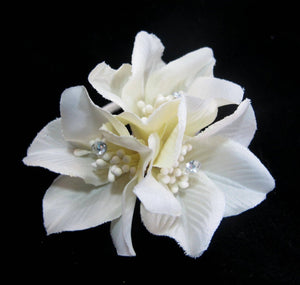 Rhododendron Hair Flower Clips -Pair