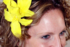 Yellow Lily Flower Hair Clip