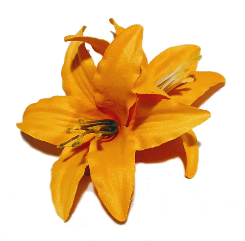 Bright Yellow Lily Hair Flower Clip