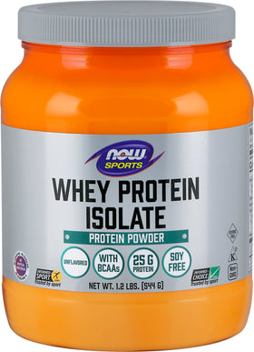 Now Whey Protein Isolate Unflavoured 544 g