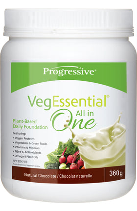 Progressive Vegessential All-In-One Chocolate Powder