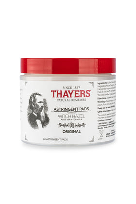 Thayers Witch Hazel Astringent Original 60 Pads