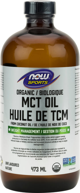 Now MCT Oil Organic 473 ml *Clearance* EXP. 05/21