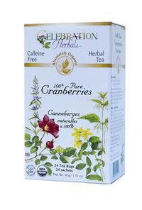 Celebration Herbals 100% Pure Cranberries 24 Tea Bags