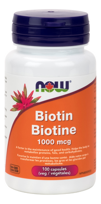 Now Biotin 1000mcg 100 Veg Caps
