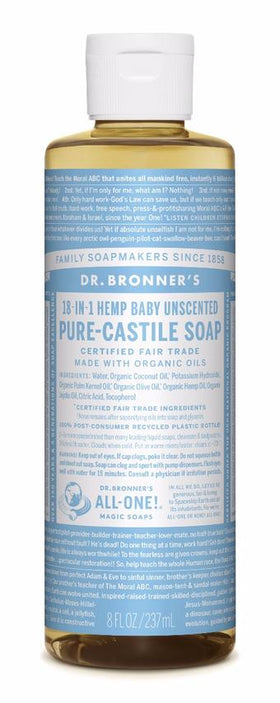 Dr. Bronner's All-One Pure-Castile Liquid Soap Baby Unscented