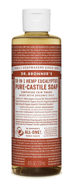 Dr. Bronner's All-One Pure-Castile Liquid Soap Eucalyptus