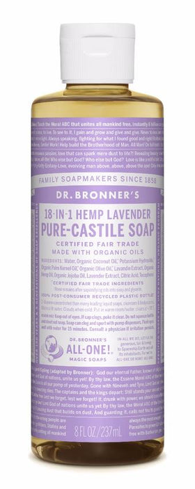 Dr. Bronner's All-One Pure-Castile Liquid Soap Lavender