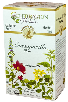 Celebration Herbals Sarsaparilla Root 24 Tea Bags
