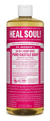 Dr. Bronner's All-One Pure-Castile Liquid Soap Rose