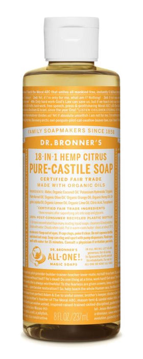 Dr. Bronner's All-One Pure-Castile Liquid Soap Citrus