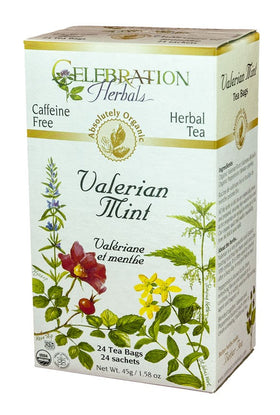 Celebration Herbals Valerian Mint 24 Tea Bags