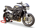 "HP CORSE Triumph Street Triple (08/12) Slip-on Exhaust ""Hydroform Black"" (EU homologated)"