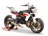 "HP CORSE Triumph Street Triple (13/16) Slip-on Exhaust ""Evoxtreme Satin"" (EU homologated)"