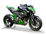 "HP CORSE Kawasaki Z800/E Slip-on Exhaust ""Hydroform Black"" (EU homologated)"
