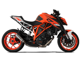 "HP CORSE KTM 1290 Super Duke R (14/16) Slip-on Exhaust ""GP-07 Satin with Wire Mesh"" (racing)"