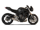 "HP CORSE Triumph STREET TRIPLE 765 Slip-on Exhaust ""Evoxtreme Satin 310 mm"" (racing)"