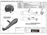 "HP CORSE Suzuki GSX-R600 / GSX-R750 (06/07) Slip-on Exhaust ""Hydroform Black"" (EU homologated)"