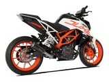 "HP CORSE KTM 390 Duke (13/16) Slip-on Exhaust ""GP-07 Black with Aluminum Ring"" (racing)"