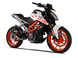 "HP CORSE KTM 390 Duke (13/16) Slip-on Exhaust ""GP-07 Black with Wire Mesh"" (racing)"