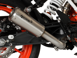 "HP CORSE KTM 390 Duke (13/16) Slip-on Exhaust ""GP-07 Satin with Aluminum Ring"" (racing)"